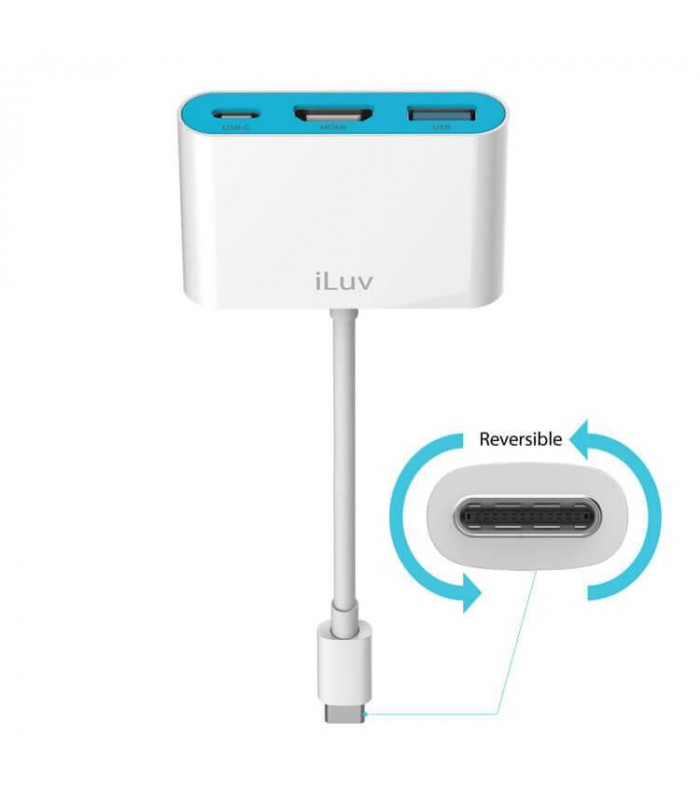 ADAPTADOR ILUV AV DIGITAL USB-C/MULTIPORT