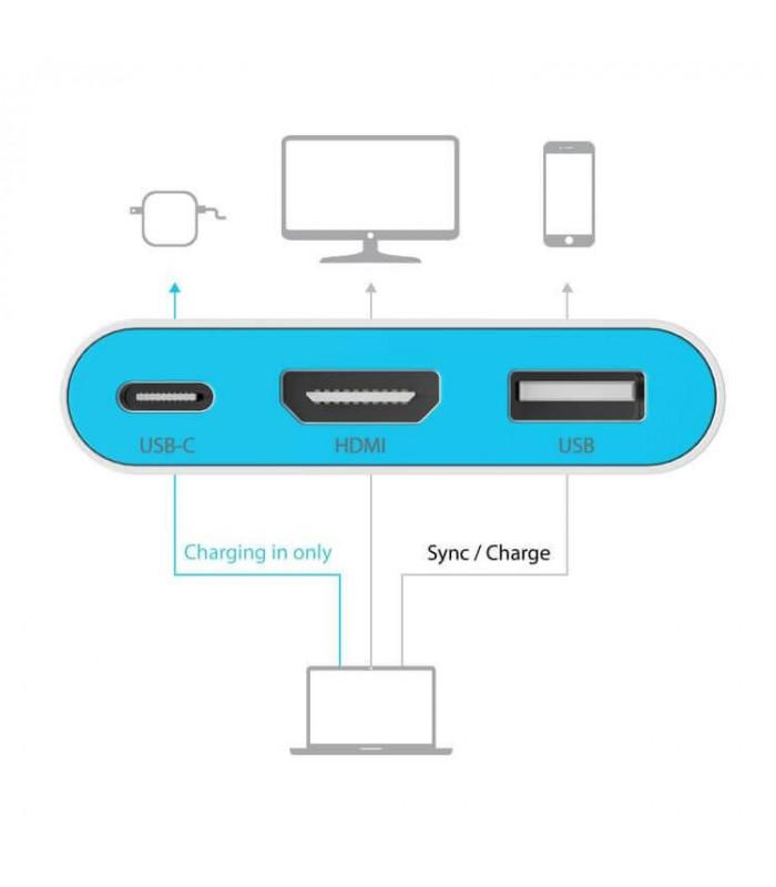 ADAPTADOR ILUV AV DIGITAL USB-C/MULTIPORT