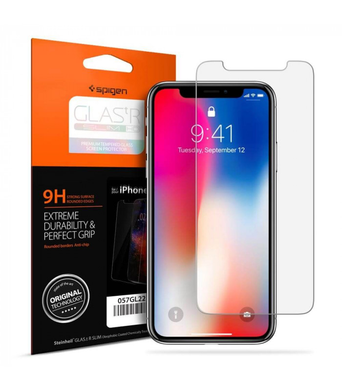 LAMINA SPIGEN GLAS.TR SLIM HD IPHONE X