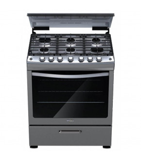 COCINA A GAS WHIRLPOOL INOX ENC ELECT 6H