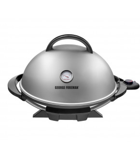 PARRILLA ELECTRICA FAMILIAR GEORGE FOREMAN GFO3320S-CL 15 PORCIONES 2000W