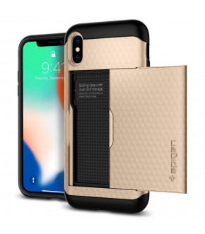 FUNDA SPIGEN CRYSTAL WALLET IPHONE X