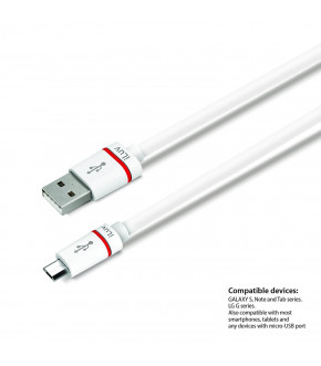 CABLE ILUV MICROUSB 1M